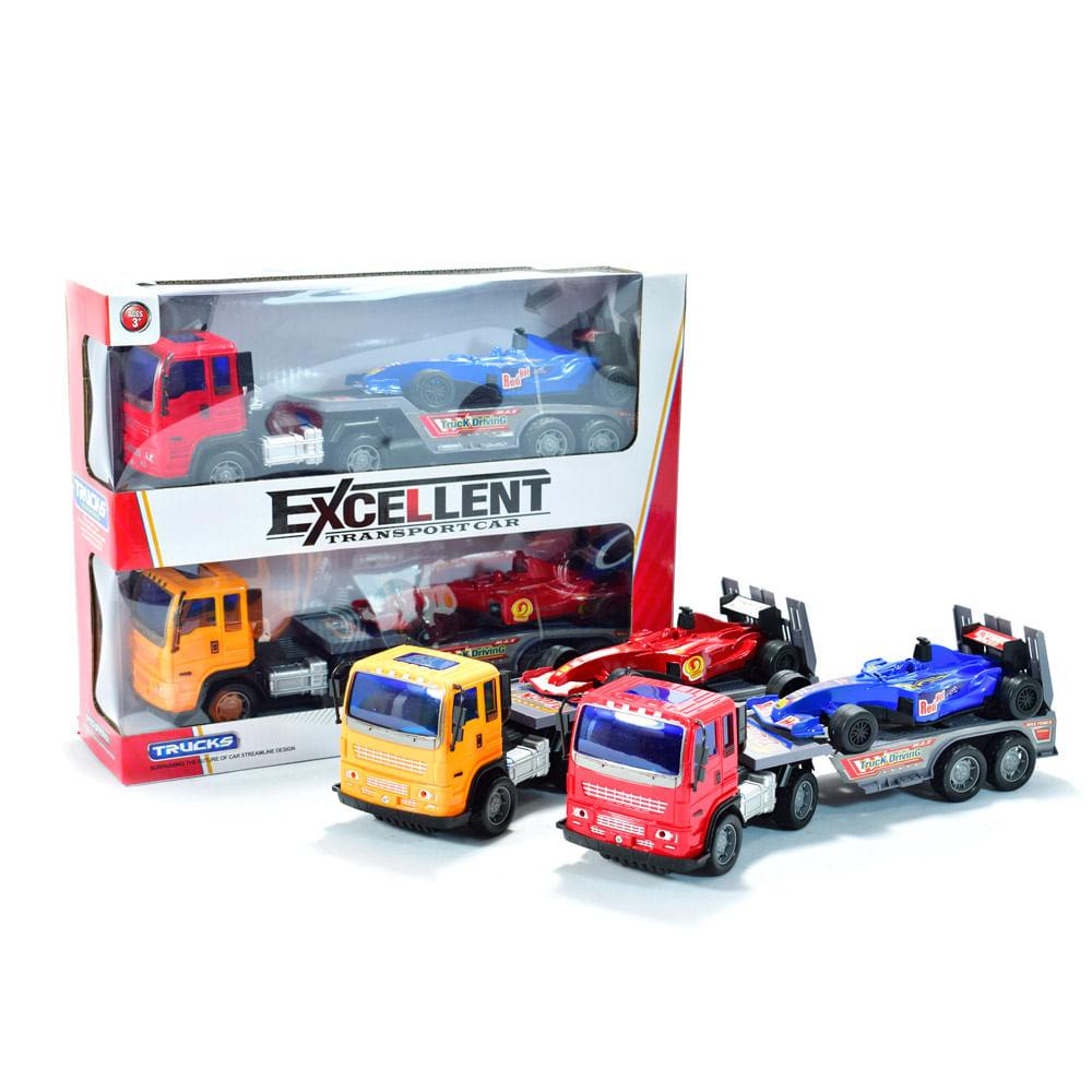 set tractomulas carros de carreras f1 colores surtidos 5