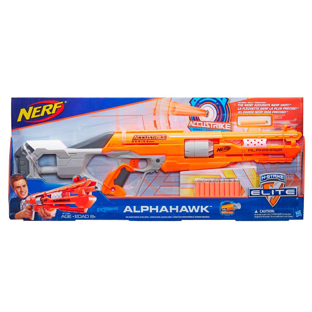 20055a069 Lanzador Nerf Accustrike Alphahawk - Hasbro 8+ - monkeymarket
