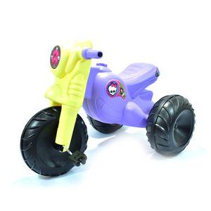Juguetes-Moto Triciclo Monster Niñas Morada 2+-2