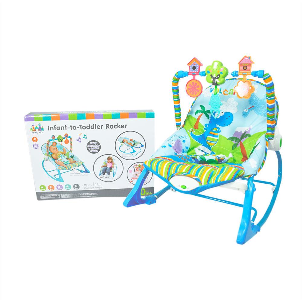 bf9e4f57e Silla para Bebe Mecedora Vibradora Musical Azul 12M- - monkeymarket
