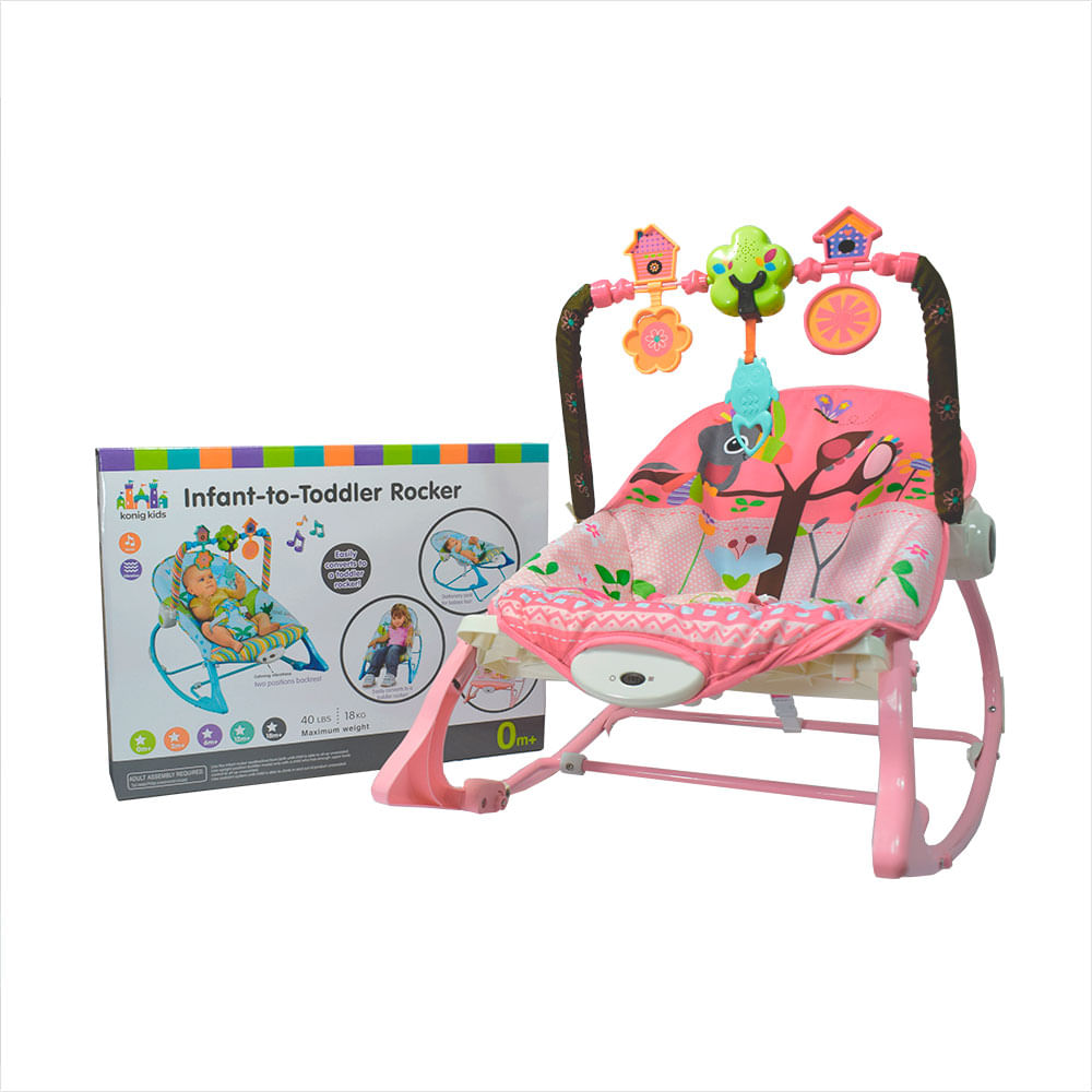 6acb59740 Silla para Bebe Mecedora Vibradora Musical Rosada 12M- - monkeymarket
