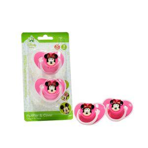 Juguetes-Set x 2 chupos en forma de corazón con tapa Minnie-Rosado1