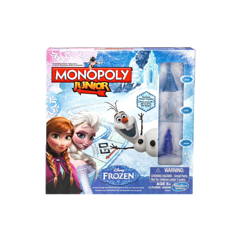 Juego De Mesa Monopoly Junior Edicion Frozen Hasbro Gaming 5
