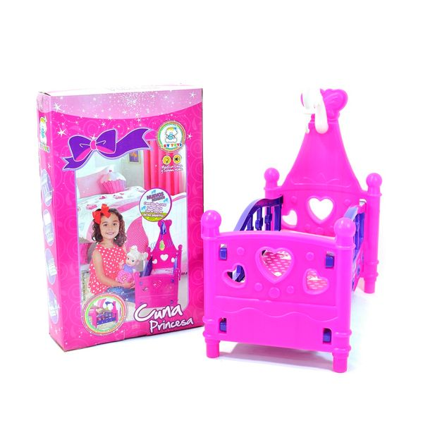 Juguetes-Cuna princesa para muñeca 3+-1
