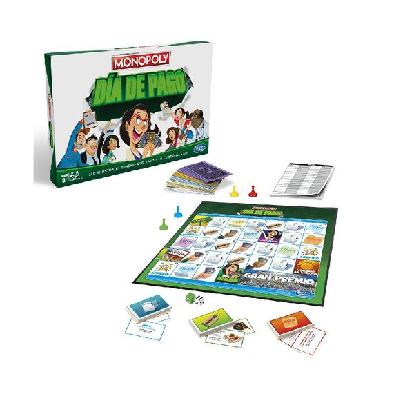 Juego De Mesa Monopoly Dia De Pago Hasbro Gaming 8 Monkeymarket